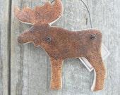 Moose Art Salt Dough Ornament