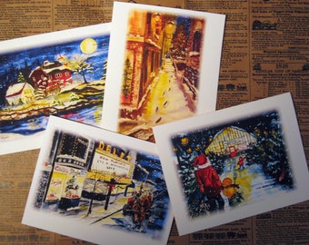 Marquette Series Christmas Notecard Set