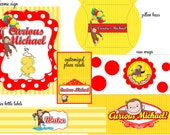 Curious George Party, Monkey DIY Decor Pack