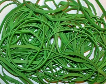 Green Rubber Bands - Rubber Bands for Crafting and Office Use - Stretch, Elastic, Latex Rubber, Office Supplies