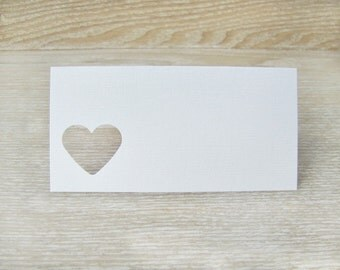 Heart Place Cards or Seating Cards for Weddings or Showers by Kiwi Tini Creations