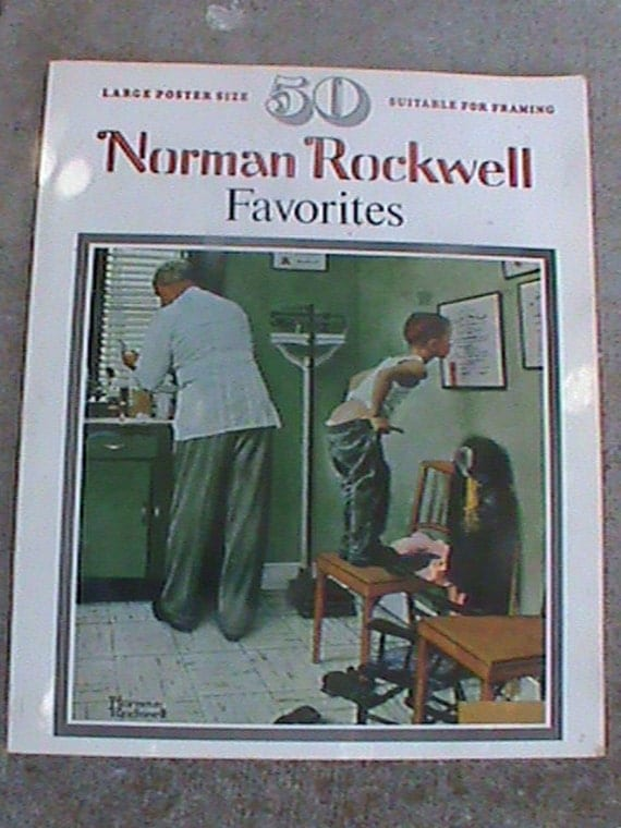 1977 ~ 50 NORMAN ROCKWELL FAVORITES ~ BOOK ~ 104 pages ~ Beautiful Condition!