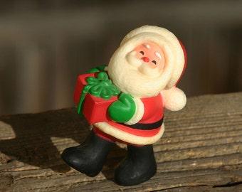 Vintage Hallmark Christmas Merry Miniature Walking Santa 1980
