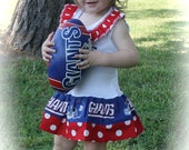 Ruffle neckline Giants  Dress  Available in  0/3 months through Size 6/8