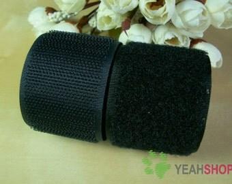 100mm / 4 Inch Black Sew on Velcro Hook & Loop Tape - 1 Meter (VC100-2)