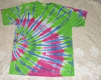 tie dye shirt, medium adult is ready for immediate shipment- all other sizes will be dyed and shipped within a week, 500