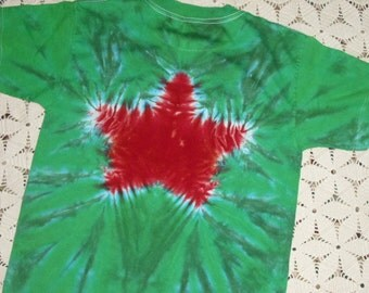 Tie dye shirt, youth large, Christmas star (Can be dyed in any size and any color- just ask!) 250