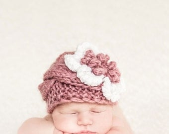Baby Girl Beanies, Knit Baby Girl Hats, Baby Beanie Hat, Knit Baby Hat, Girls Beanie Hats, Newborn Baby Hats