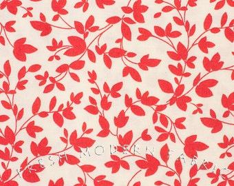 LAST PIECE Fat Quarter Oh Deer Twiggy in Cherry Red, Momo, Moda Fabrics, 100% Cotton Fabric