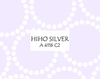 Half Yard Hiho Silver Pearl Bracelet, Lizzy House for Andover Fabrics, 100% Cotton Fabric, A 4116 C2