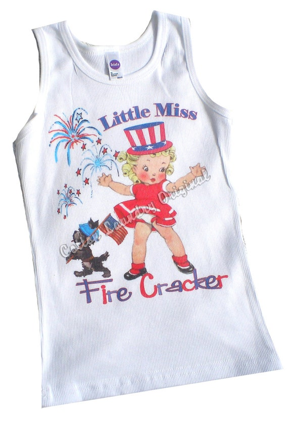 July 4th, 4th of July, Independence day girls tee shirt tank, tshirt tee shirt, tshirt 4th Little Miss Firecracker...fourth of july tshirt