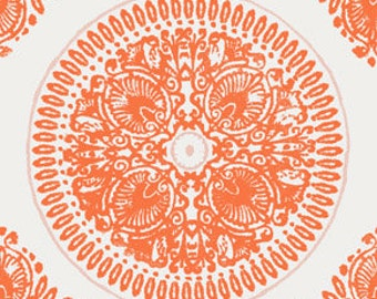 Impressions Medallion by Ty Pennington in Orange - 1 yard