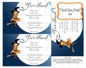Halloween Girl Witch Invitation and party kit 10 piece