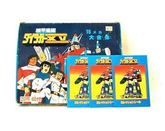 3 Voltron Sticker Packs Japan Imports 80's