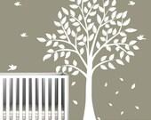 Children's Tree Decal - Vinyl Wall Decals - nursery decals with TREE & birds
