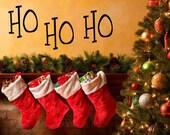 HAPPY HOLIDAYS DECAL, Door, Seasonal, Ho Ho Ho Holiday Christmas Stickers - holiday Wall Stickers - Happy Holidays