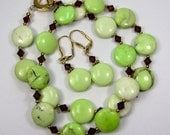 etsy green necklace catju