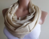 loop infinity circle scarf nude colour christmas gift for her