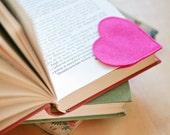 Felt Bookmark - Handmade Bookmarks - Pink  Bookmark