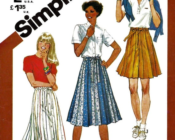 button front pleated skirt pattern simplicity 5480 by