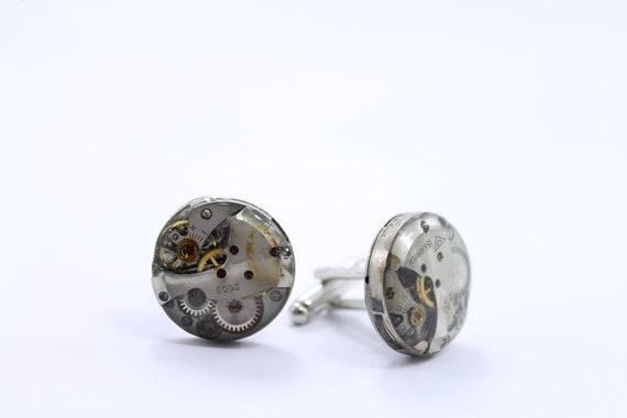 Steampunk Cufflinks - Handsome Men's Clockwork Cuff Links Design - Steampunk Jewelry