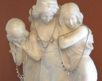 3 Vintage Rhinestones Elegant Choker Necklaces