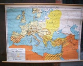Christian Europe & The Crusades Wall Map