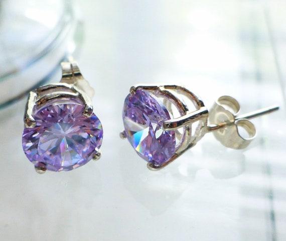 Lavender Cubic Zirconia Earrings