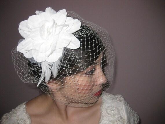 birdcage veils/case veils/ russian veils/ hand made flower/wedding veils/bridal veil