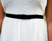 little black strech velvet sash, black Bridal sash, wedding sash