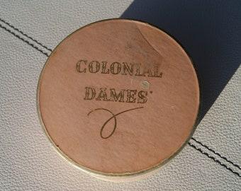 Vintage Colonial Dames Powder Box Hollywood California Radiant Dusk Rare