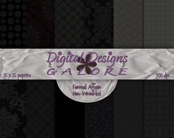 Formal Affair (Non-Wrinkled) Digital Paper Pack Set of 12 - Commercial and Personal Use - Digital Designs Galore