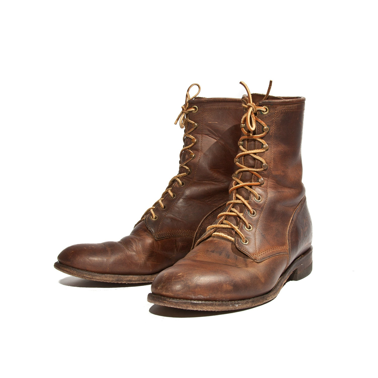 s lace up ankle roper boot brown leather justin boots