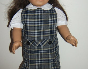 18 inch doll School Jumper Plaid 42 (LL)