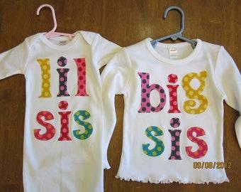 Big Sis/Lil Sis set of 2 Matching Outfits