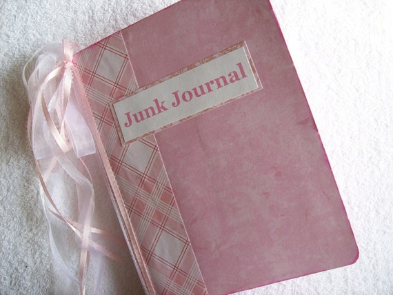 Junk Journal Altered Composition Notebook Shabby Chunky PiNk