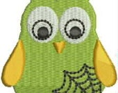 Halloween Embroidery Design - Halloween Hooter Spider Web - Halloween Owl Embroidery Design - Cute Embroidery Designs, owl, bird, Hooter