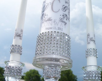 Vine Design unity candle set.........holders included
