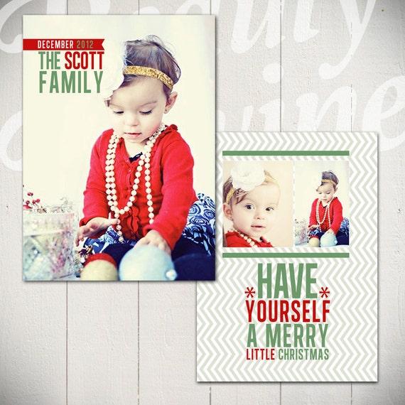 Christmas Card Template For Photographers Christmas Card Template Deck