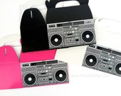 Boom Box Favor Boxes Set of 10