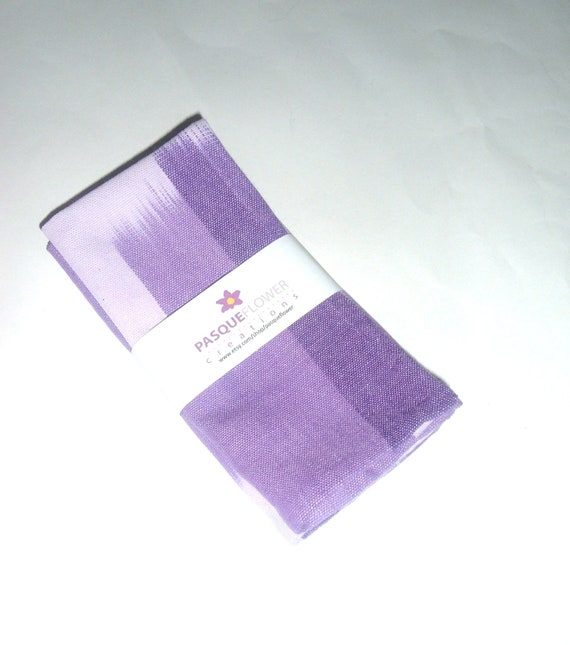 Cloth Napkins- Set of 2- Handwoven Guatemalan Cotton - Purple Ombre
