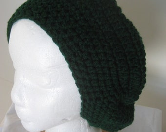 Crochet Hunter Green Beret - 279