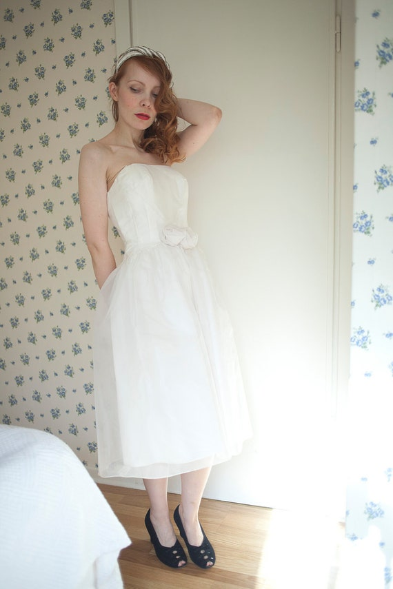 1940's couture wedding cocktail dress with jacket