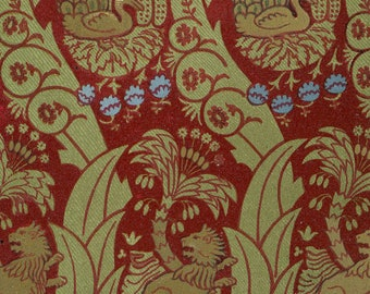 Antique French Chromolithograph Textile Design Print 1800s