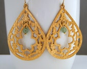 Filigree Gold Boho Drop Earrings