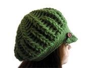 100 % cashmere,Green,Hat, Beanie, autumn, wool, hand-knitted,fashion,gift,unisex, men, vomen,valentine