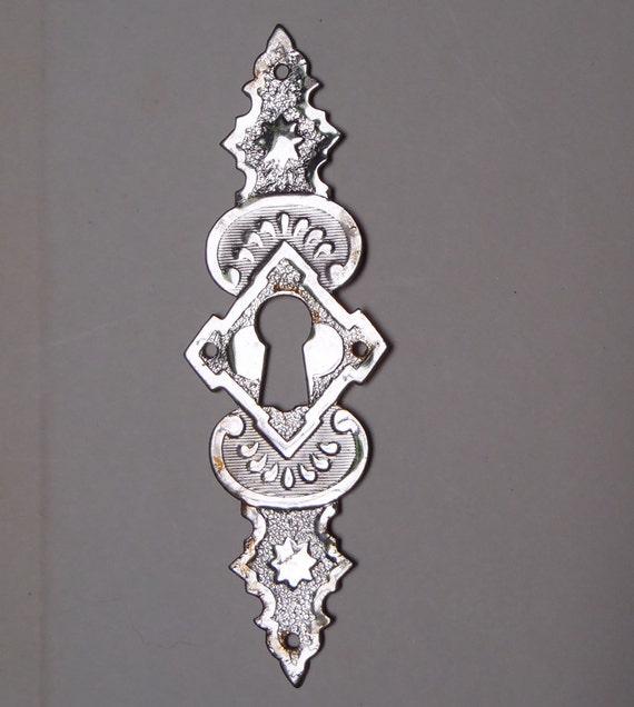Vintage metal keyhole