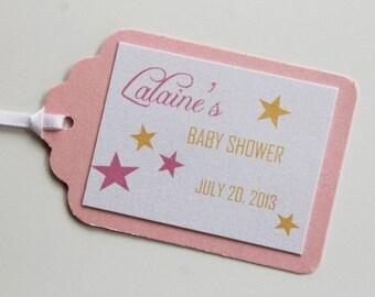 Twinkle Twinkle Little Star Baby Shower Favor Tags
