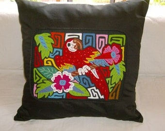 23 x 23 Black embellished pillow cover 206