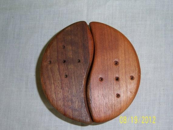 Mid Century Modern Wooden Salt and Pepper Shakers Set - Don Shoemaker Mexican Modern Salt & Pepper Shakers